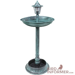 ART - ARTIFACT Solar Lamp Post Bird Bath