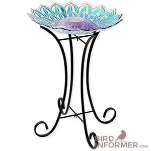 Bits and Pieces - Solar Glass Birdbath