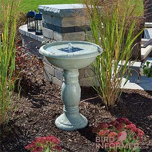 Smart Solar 20622R01 Country Gardens Solar Birdbath Fountain