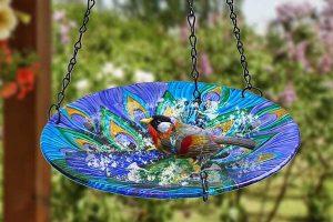 Hanging Solar Bird Bath